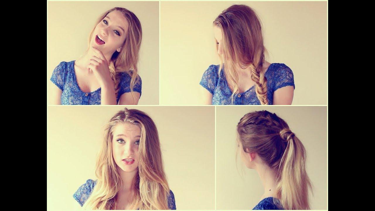 2-easy hairstyles gross hair
