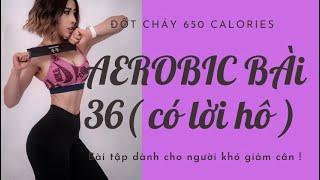 AEROBIC#36: Đốt mỡ thần tốc dành cho người khó giảm cân 🔥🔥🔥 650 calories