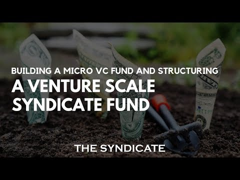 Building a Micro VC Fund and Structuring a Venture Scale Syndicate Fund