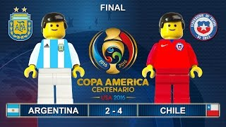 Copa America Final 2016 ( Argentina vs Chile 2-4 ) Film in Lego Football Highlights ( Centenario )