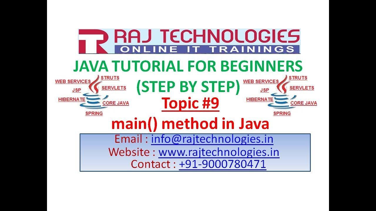 core java for beginners main method in java by raj core java for beginners 9 main method in java by raj