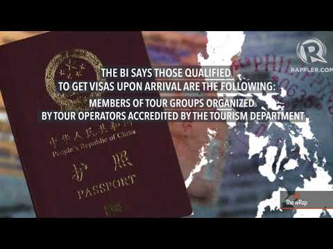 PH grants visas on arrival to Chinese nationals