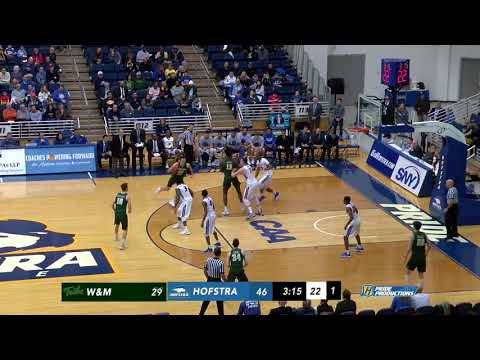 2017-18 William & Mary Men's Basketball Highlights at Hofstra