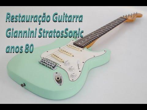 Restauração / Reforma Guitarra Giannini Stratossonic anos 80