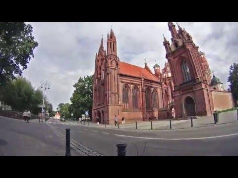 Vilnius hyperlapse timelapse 2015