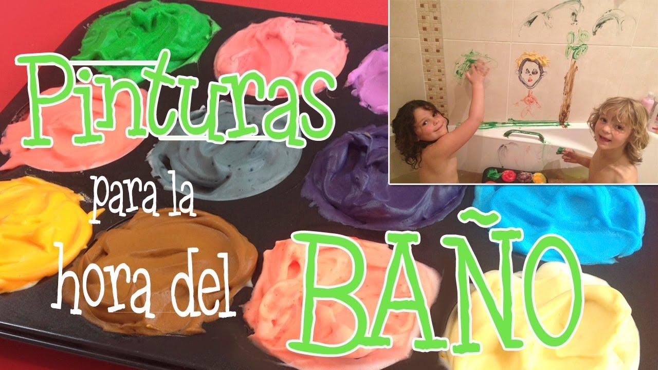 Pinturas para niños: pintura para la bañera - YouTube