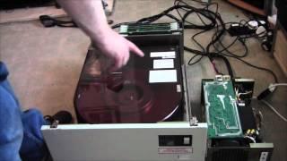 Quantel Paintbox Restoration Part 2: Test Of The Hard Drive (10 Inch Platters)  VOLUME ALERT!