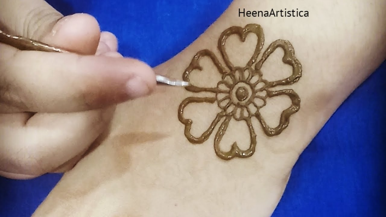 beginner simple mehndi designs for kids