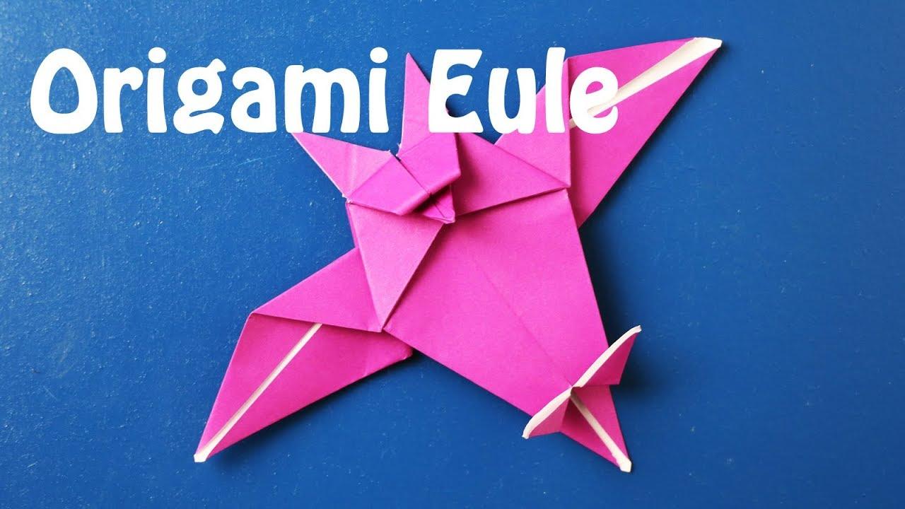 origami eule falten origami owl anleitung youtube