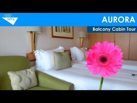 P o 39 s aurora balcony cabin tour youtube for Aurora p o interior