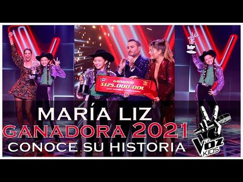 😍 ¡Niña extraordinaria! 😱 María Liz GANADORA LA VOZ KIDS COLOMBIA 2021 / conoce su historia