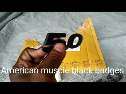 EBay black mustang emblems vs American muscle emblems