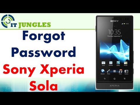 Sony Xperia Sola: Remove Forgotten Lock Screen Password