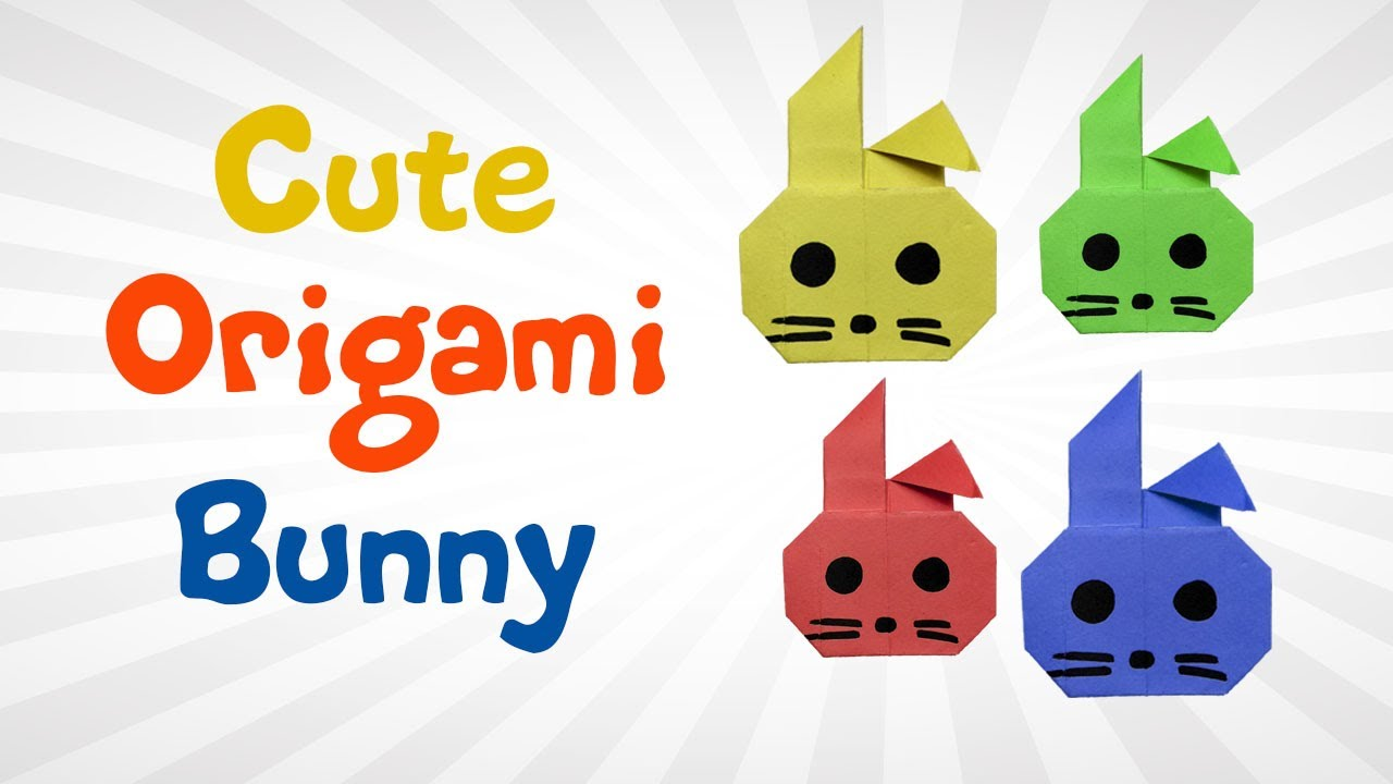 cute and easy origami bunny for kids diy how to make an