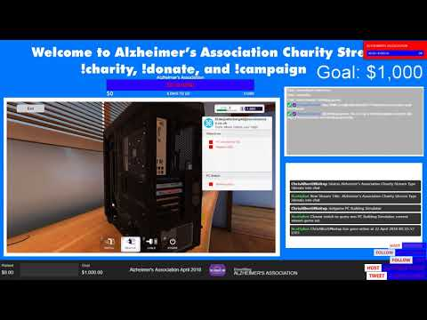 Alzheimer's Association Charity Stream Type !donate into chat