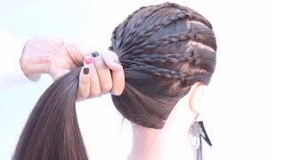 2 easy high ponytail hairstyle for everyday | simple hairstyle | new hairstyle | hairstyle