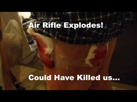 PCP Air Rifle Explodes! Almost Kills My Buddy