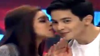 TUMAMANG KISS NI MAINE KAY ALDEN SUPER SLOWMO HD DECEMBER 19 2015