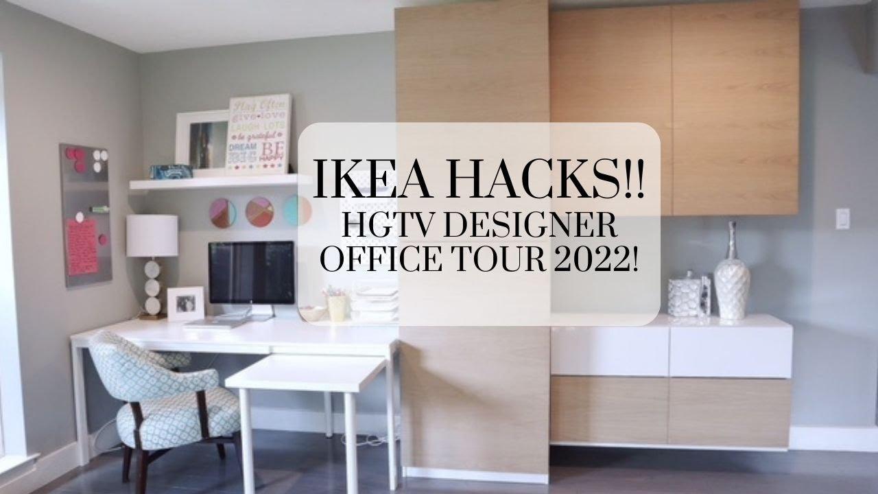 HGTV Designer Office Tour 2018: IKEA Hack!