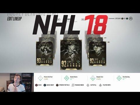NHL 18 HUT - ALL LEGENDS TEAM BUILD!