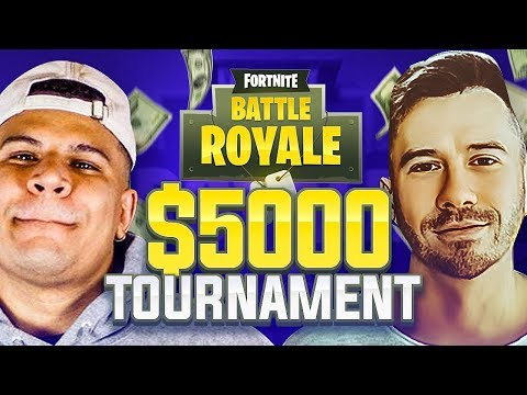 PLAYING IN KEEMSTAR\'S $5000 FORTNITE PRO TOURNAMENT W/ WOLFIE!! (Myth, TFUE, NickMercs and more)