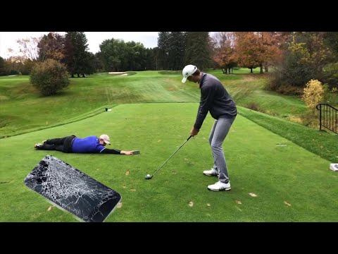 Dangerous Golf Stunt goes terribly wrong Course Vlog