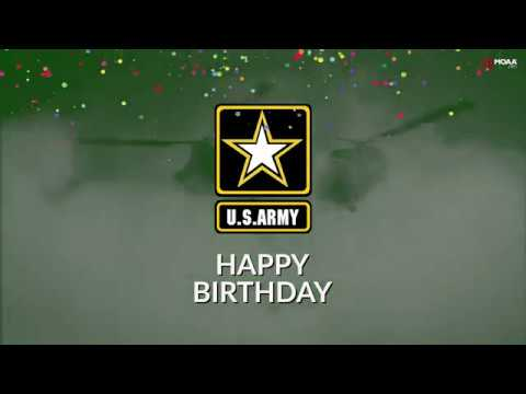 Happy Birthday U.S. Army