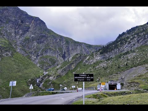 Pyrenees, Aragnouet - Bielsa Tunnel connecting France and Spain