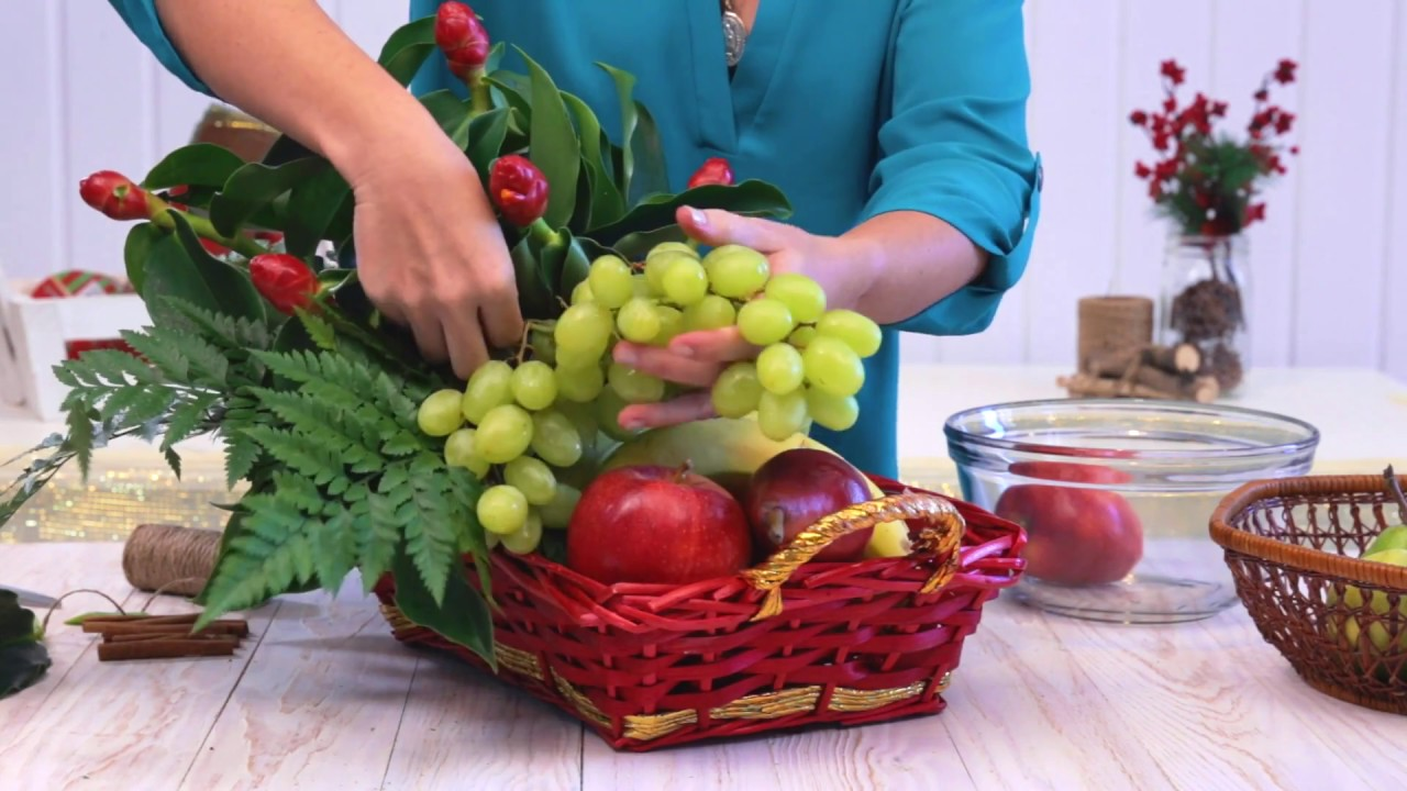 Canasta Navideña De Frutas