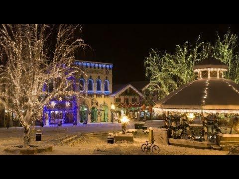 Christmas Lighting Festival Leavenworth Washington 2017 Фестиваль Огней в Немецком Городкe