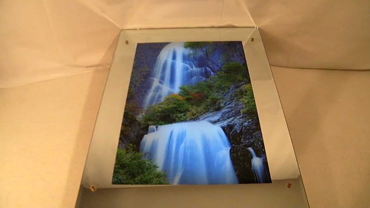Lighted Moving Motion Waterfall Mirror With Nature Sounds