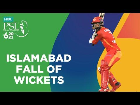 Islamabad Fall Of Wickets   Islamabad United vs Peshawar Zalmi   Match 33   HBL PSL 6   MG2T