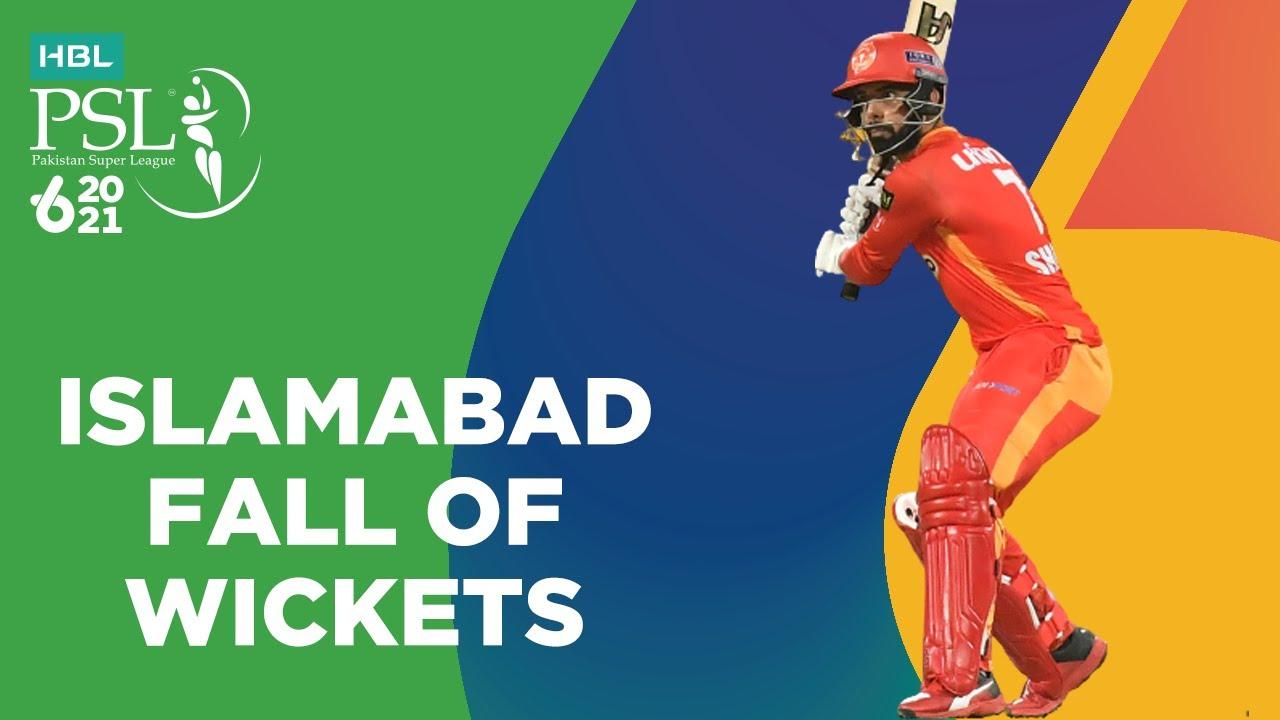 Islamabad Fall Of Wickets | Islamabad United vs Peshawar Zalmi | Match 33 | HBL PSL 6 | MG2T