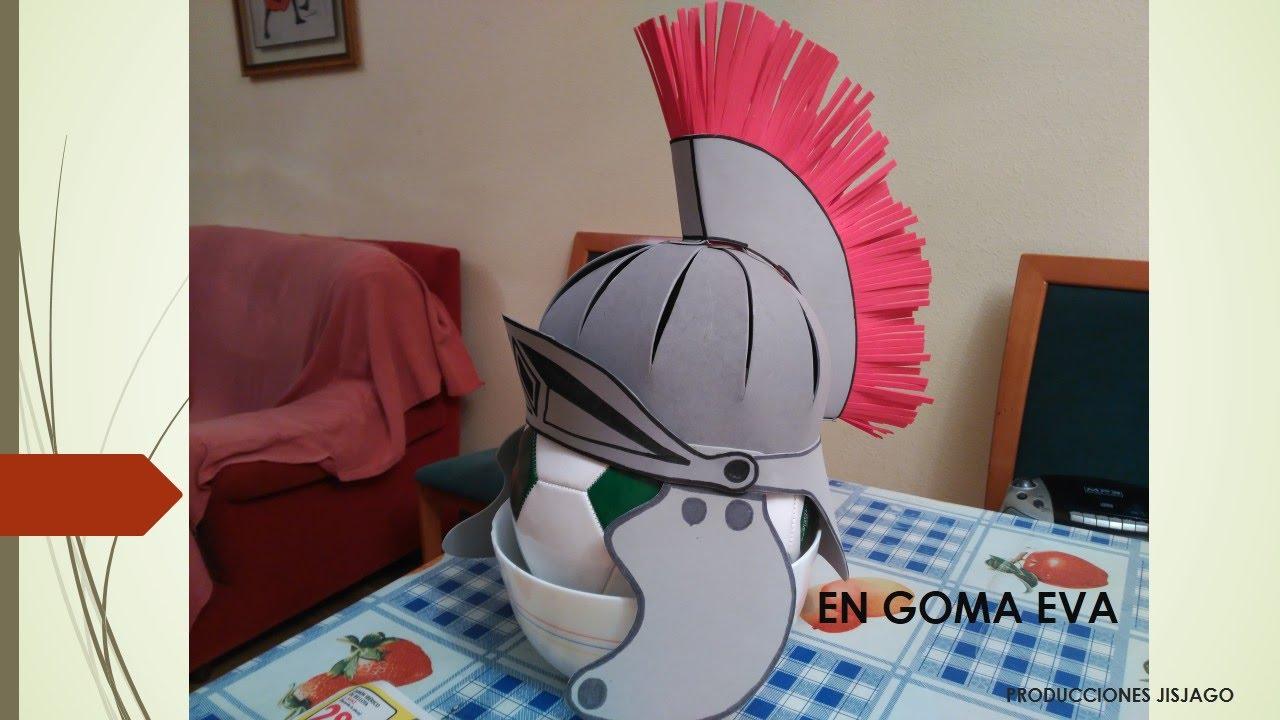 Casco Romano disfraz - YouTube