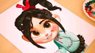 Painting Vanellope - Wreck It Ralph