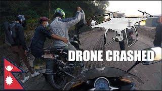 CRASHED MY DRONE at Jarsing Pauwa |Ride Nepal|
