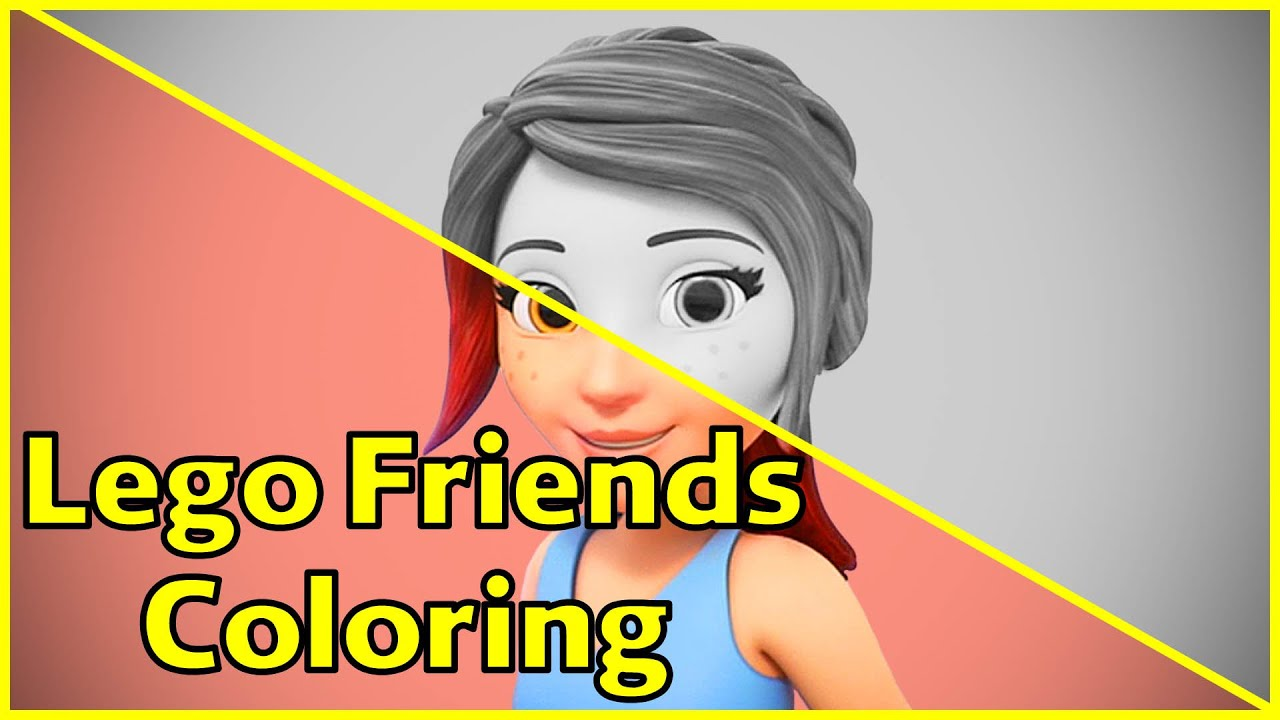 Lego Friends Coloring Pages Mia Lego Friends Coloring Fun Youtube