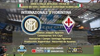Inter x Fiorentina | SerieA Italia 2019-2020 | Radio En Vivo
