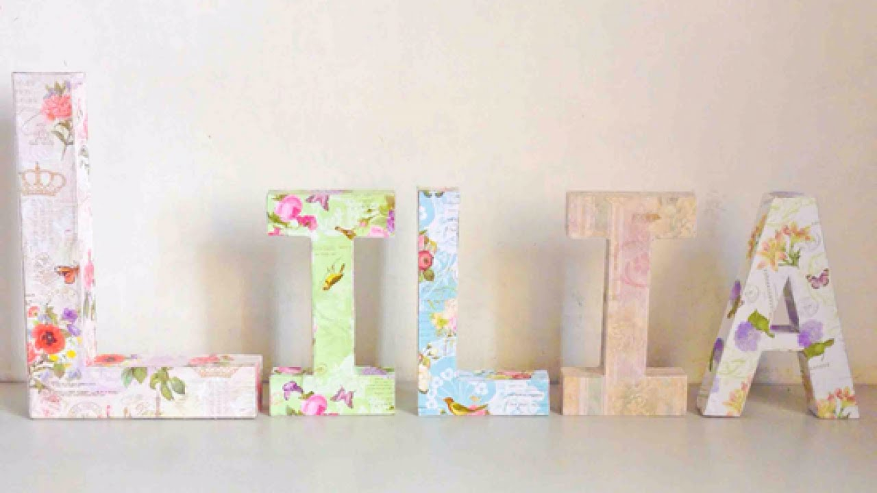how to make a decoupage kraft letter name display diy crafts tutorial guidecentral