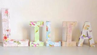 How To Make a Decoupage Kraft Letter Name Display - DIY Crafts Tutorial - Guidecentral