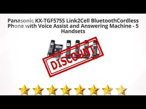 Panasonic KX-TGF575S Link2Cell BluetoothCordless Phone with Voice    Review and Discount