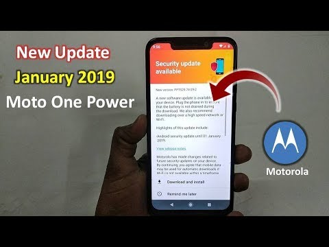 New Update in Moto One Power 2019 | January 2019 Moto One Power System  Update