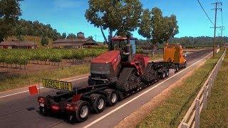 American Truck Simulator/ Катаемся в онлайне. Труд американского дальнобойщика ... Игра с голосом.