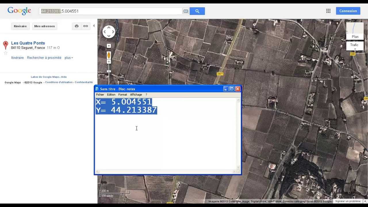 how to extract the X and Y coordinates from Google Maps - YouTube