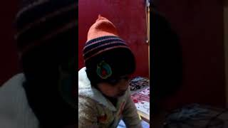Funny kid learning abc