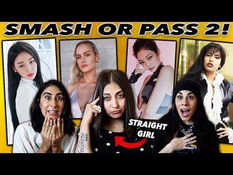 STRAIGHT Girl Does Smash or Pass Challenge: GIRL Edition 2! (Blackpink, Loona, Mamamoo)