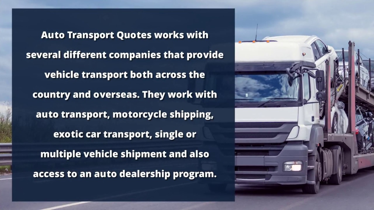 Vehicle Transport Quote Enclosed Auto Transport  Auto Transport Quotes  Youtube