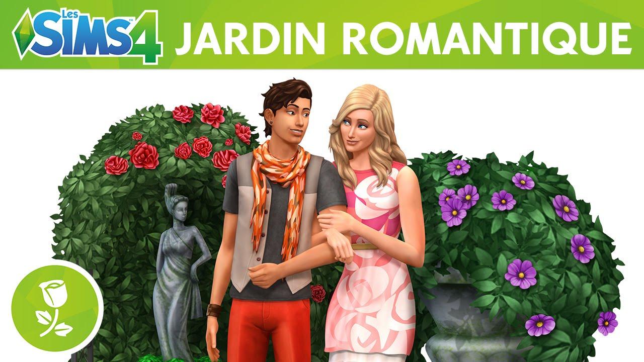 Les sims 4 kit d 39 objets jardin romantique bande annonce for Jardin romantique
