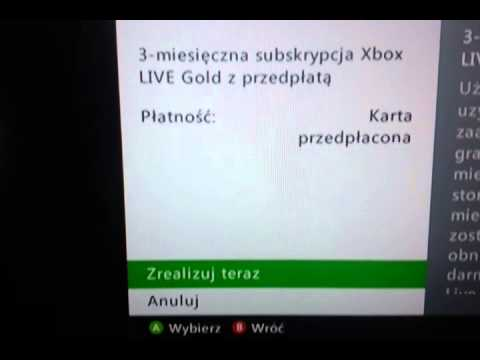 Karta Xbox Live.Xbox Live 3 Miesiace Gold Youtube