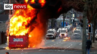 Belfast bus hijacked & petrol bombed as tensions rise in NI